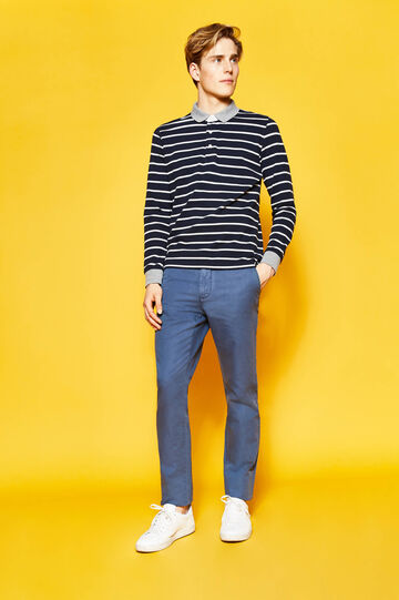 Regular-fit chinos, Dark Blue, hi-res