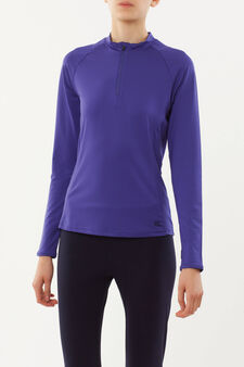 Long-sleeved sports T-shirt, Purple, hi-res