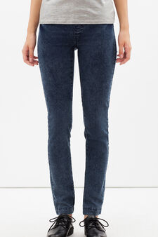 Skinny fit stretch jeggings, Dark Blue, hi-res