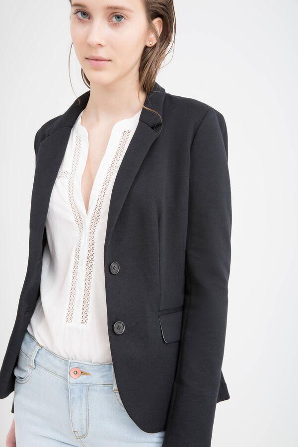 Solid colour cotton blend blazer | OVS