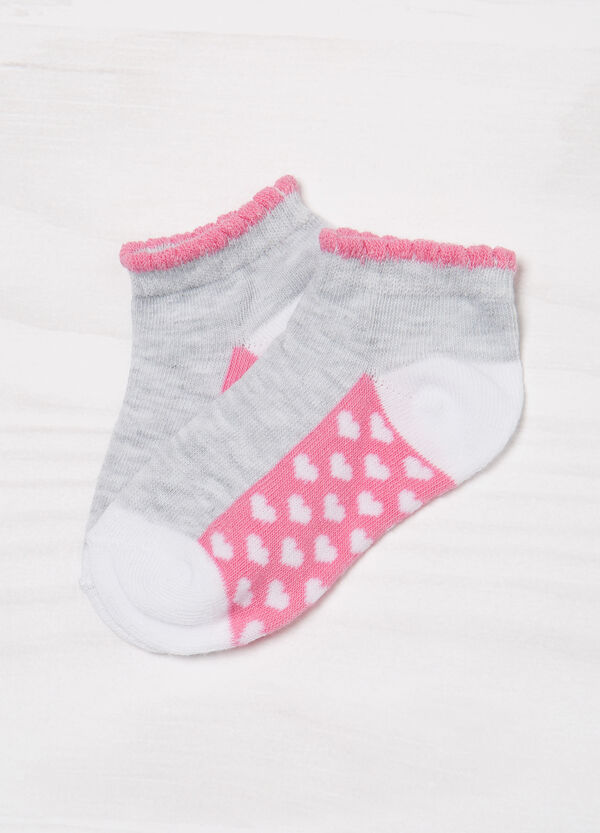 Three-pack socks with heart pattern | OVS