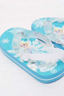 Frozen print thong sandals, Light Blue, hi-res