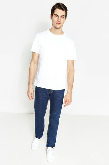 Solid colour straight-fit jeans, Dark Wash, hi-res