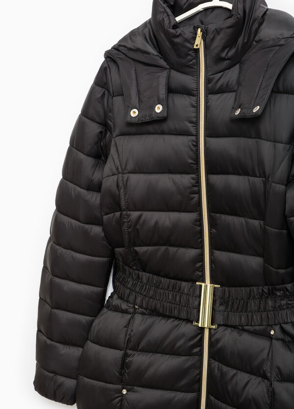 Down jacket with hood and belt | OVS