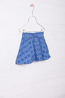 Patterned viscose skirt, Cornflower Blue, hi-res