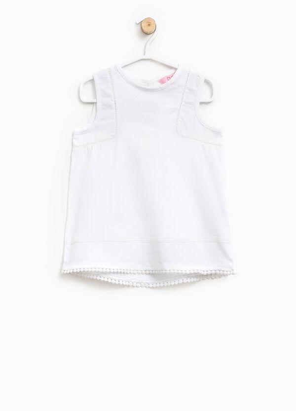 Cotton sleeveless shirt. | OVS