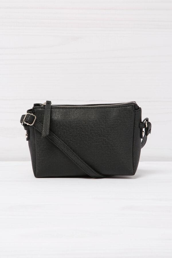 Solid colour, leather look shoulder bag | OVS