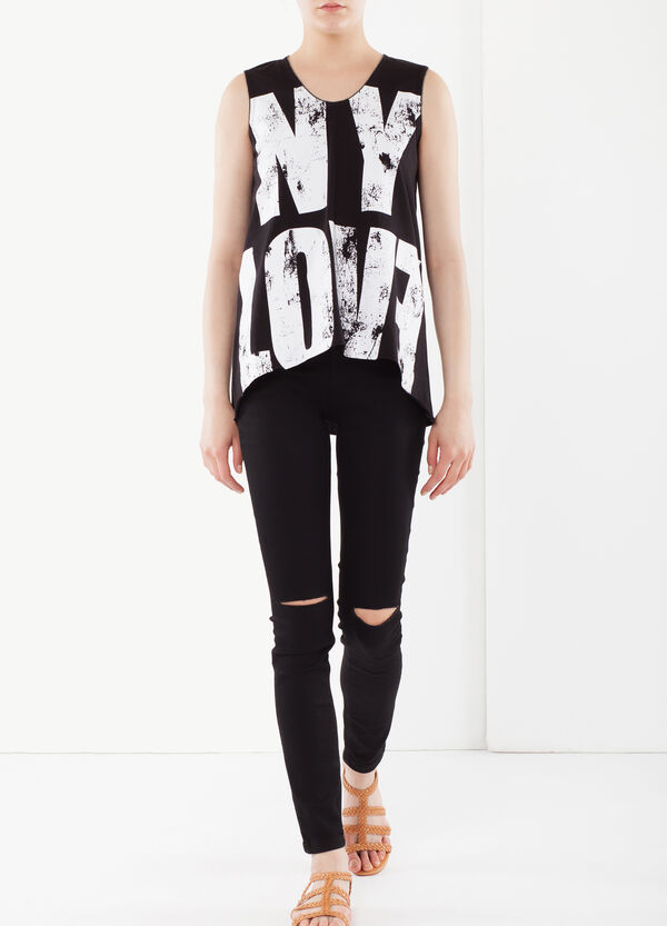 Asymmetrical top with writing   OVS
