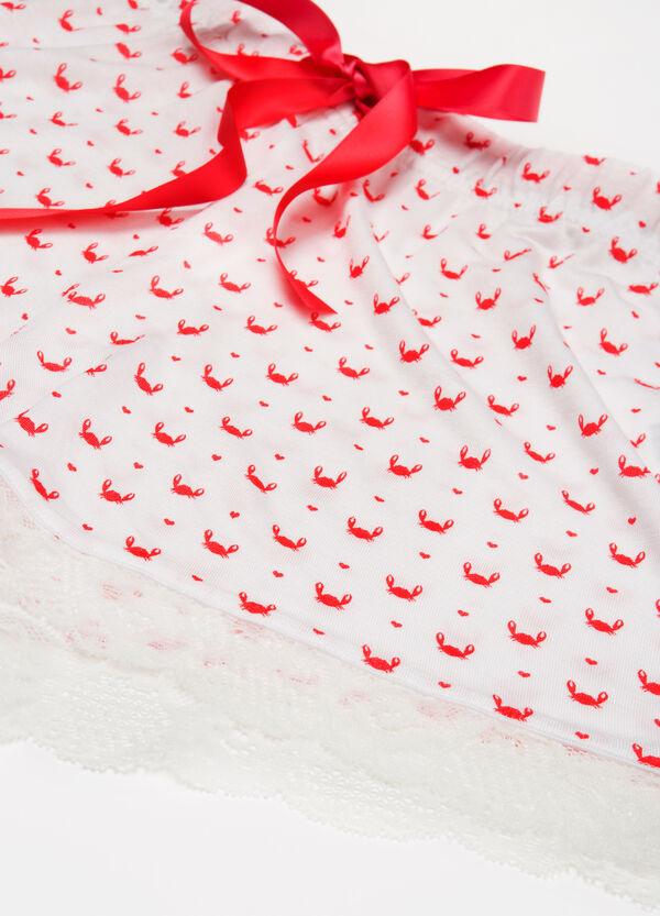 Printed viscose pyjama shorts | OVS