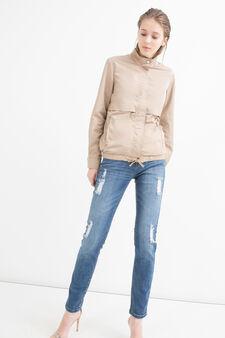 Drawstring jacket, Beige, hi-res