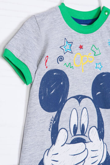 Mickey Mouse sporting outfit, Grey/Green, hi-res