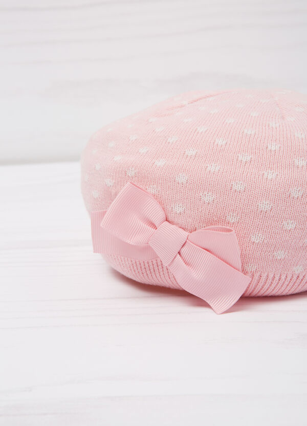 Polka dot beret in cotton | OVS