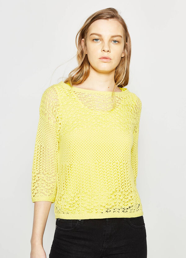 Pullover with openwork design | OVS