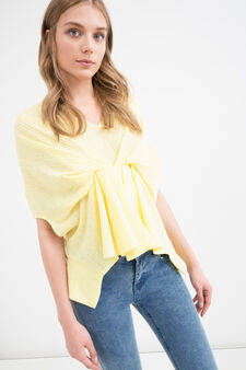 Openwork T-shirt, Canary Yellow, hi-res