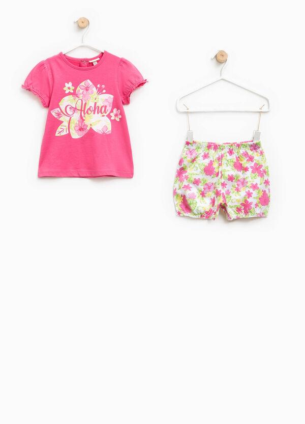 Pijama de camiseta y shorts 100% Biocotton | OVS