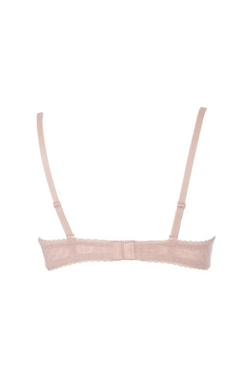 Balconette bra with bow, Powder Pink, hi-res