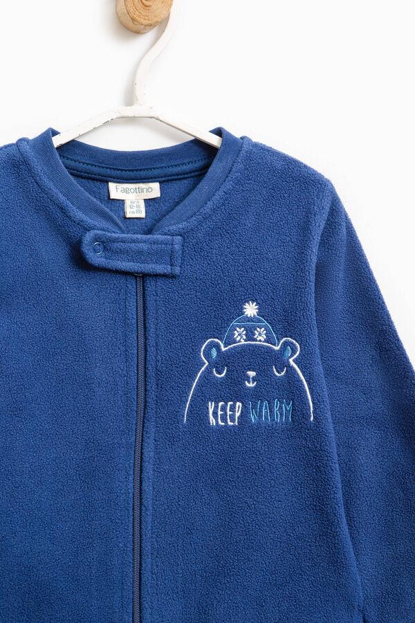 Embroidered fleece sleep suit | OVS