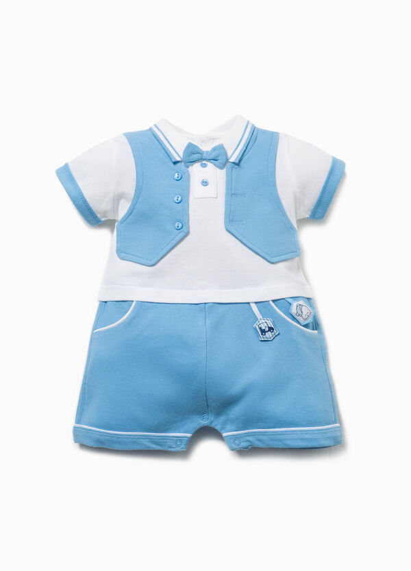 Romper suit with gilet and bow tie | OVS