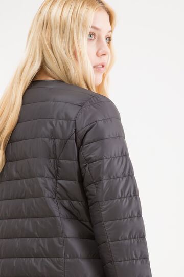 Curvy lightweight quilted down jacket, Black, hi-res