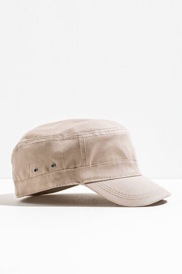 Solid colour baseball cap  , Khaki, hi-res