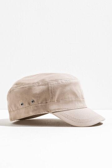 Gorra de béisbol en color liso, Marrón caqui, hi-res