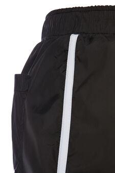 Swim boxer shorts with drawstring waist, Black, hi-res