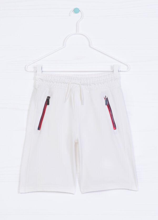 Solid colour 100% cotton Bermuda shorts   OVS