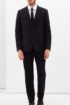 Pinstripe suit with extra-slim custom fit, Blue, hi-res