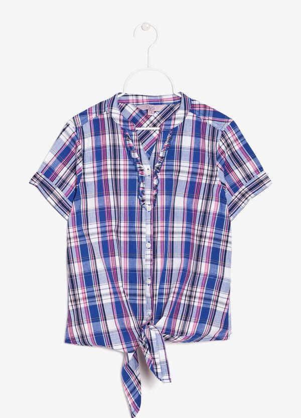 Tie front plaid shirt | OVS