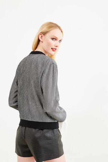 Solid colour shorts with elastic waist, Black, hi-res