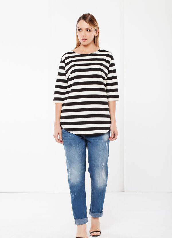 T-shirt Curvy strisce | OVS