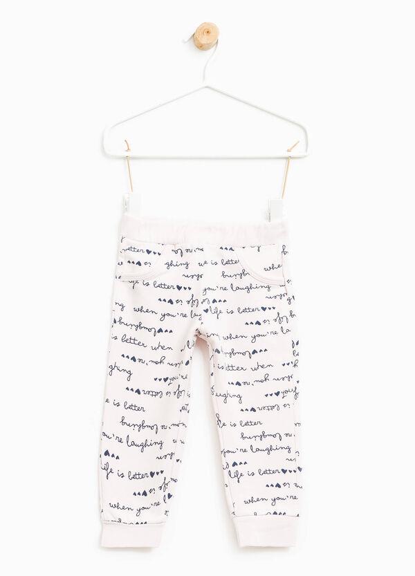 Pantalón en algodón elástico con fantasía | OVS