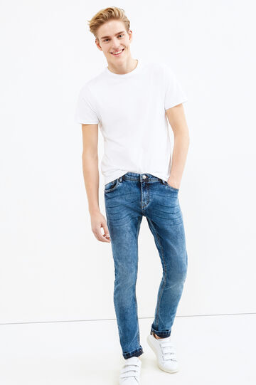 Mis-dyed, super skinny-fit jeans, Denim, hi-res