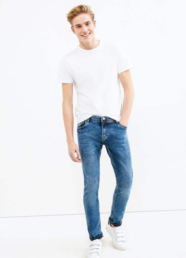 Mis-dyed, super skinny-fit jeans | OVS
