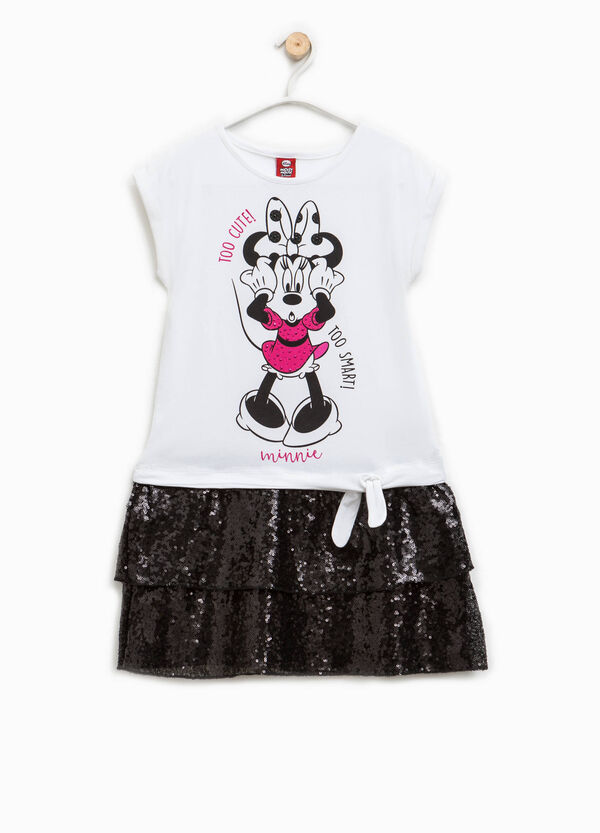 Dress with Minnie Mouse print and sequins | OVS