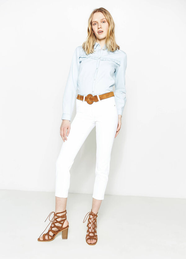 Skinny-fit, cropped stretch jeans | OVS