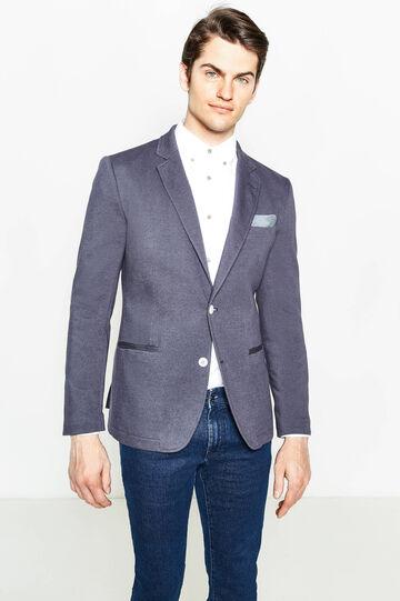 Giacca elegante in cotone stretch, Blu chiaro, hi-res