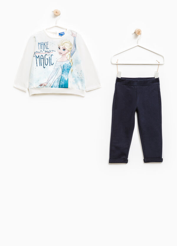 Stretch cotton tracksuit with Frozen print | OVS