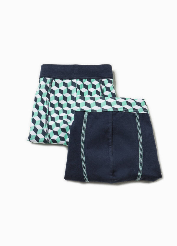 Two-pack solid colour and patterned boxer shorts | OVS