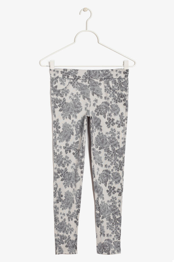 Stretch trousers with a print | OVS