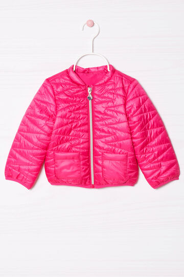Solid colour quilted down jacket