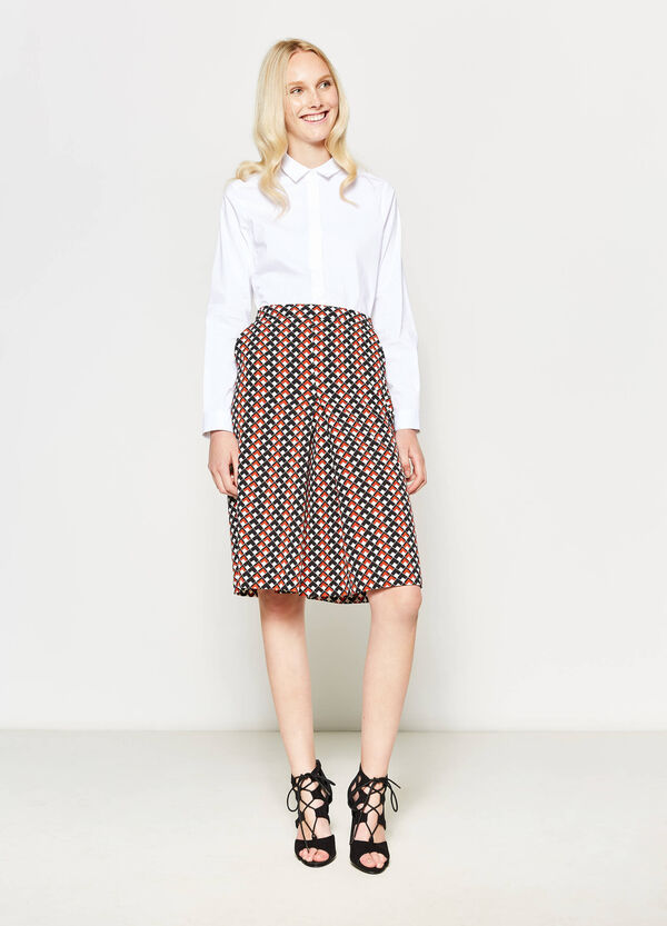 Patterned stretch culottes | OVS