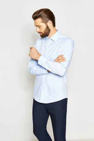 Slim-fit formal shirt, Soft Blue, hi-res