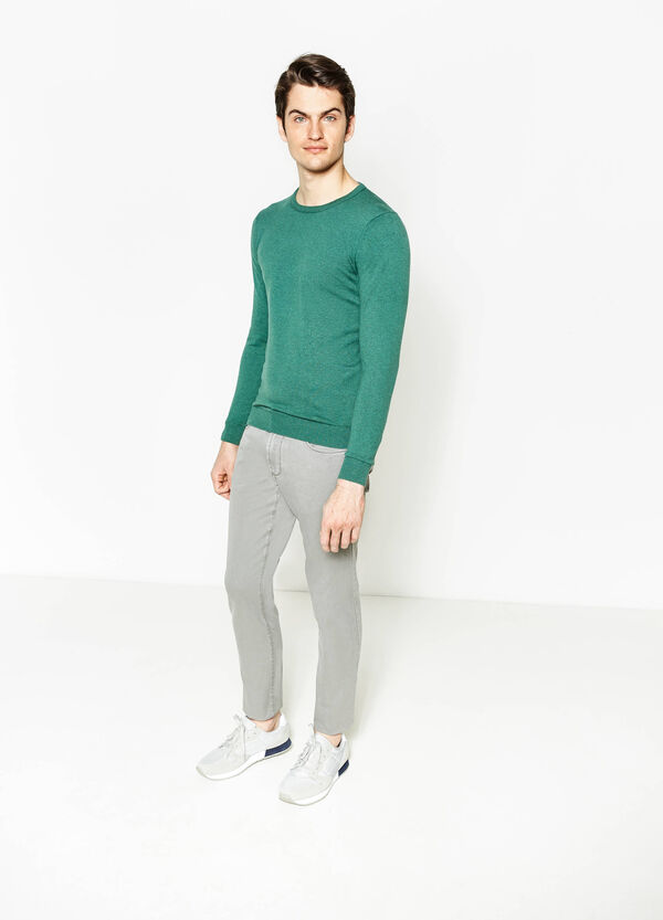 Pantaloni regular fit in puro cotone | OVS