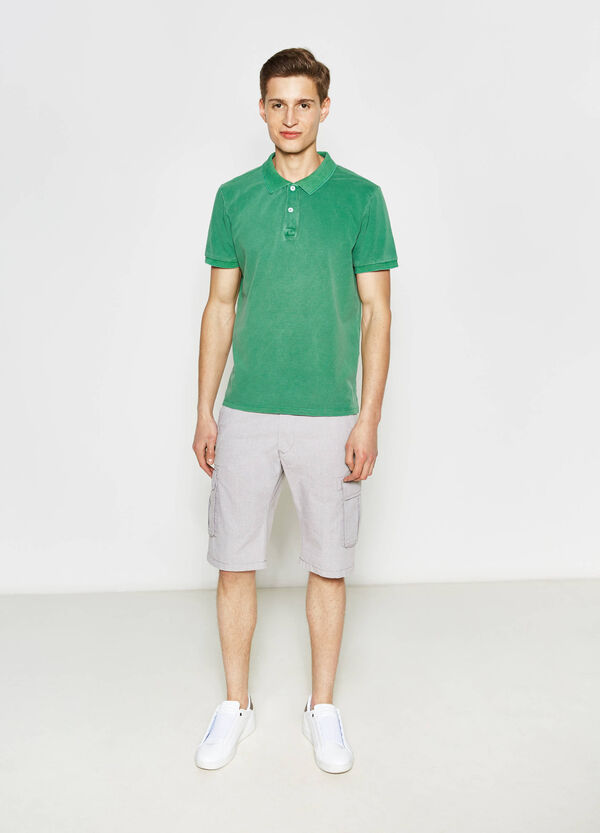 Cotton cargo Bermuda shorts | OVS