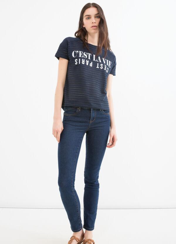 Cotton blend printed stretch sweatshirt | OVS