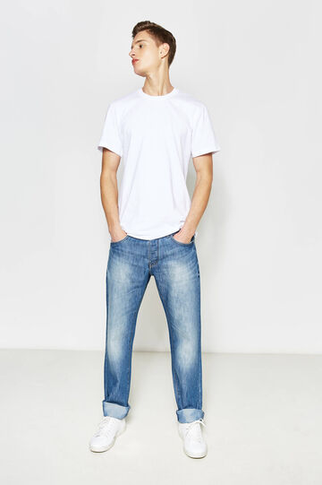 Regular fit jeans with faded effect, Medium Wash, hi-res