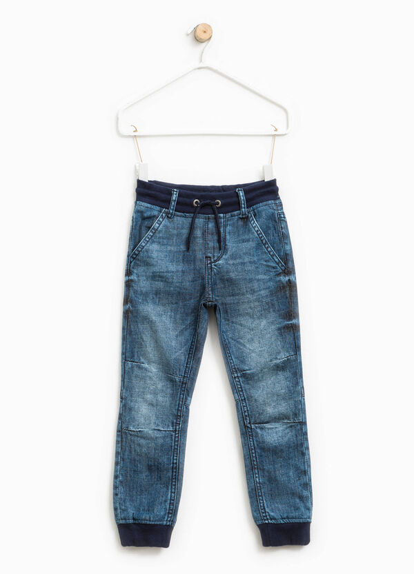 Worn-effect stretch jeans   OVS
