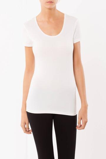 T-shirt Under Tech, Bianco panna, hi-res