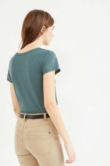 T-shirt misto cotone con stampa, Verde bosco, hi-res
